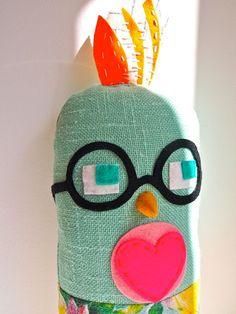 fabric bird :: jess quinn small art