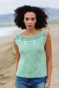 Ravelry: Tide Pool Tank pattern by Angela PlunkettI'm pretty sure the Tide Pool Tank from Interweave Crochet Summer 2017 is going to be my new go-to summer top. Crochet Tank Tops, Crochet Summer Tops, Crochet Shirt, Crochet Cardigan, Free Crochet, Knit Crochet, Crochet Birds, Freeform Crochet, Crochet Granny
