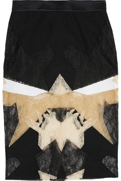 Givenchy patchwork lace skirt