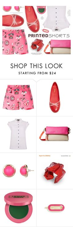 """""""Prints Charming: A Shorts Story"""" by katarina-blagojevic ❤ liked on Polyvore featuring M Missoni, MIA, Kate Spade, Cabinet, Lipstick Queen, L. Erickson and printedshorts"""