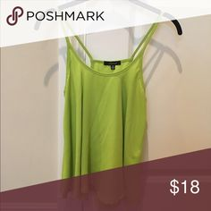 Worn once, lime green flowy top Only worn once, flowy top Nordstrom Tops