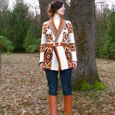 70s Vintage NATIVE VIBES Thick and Cozy Boho by AstralBoutique