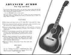 Gibson Advanced Jumbo  (1937 Catalog Spread)