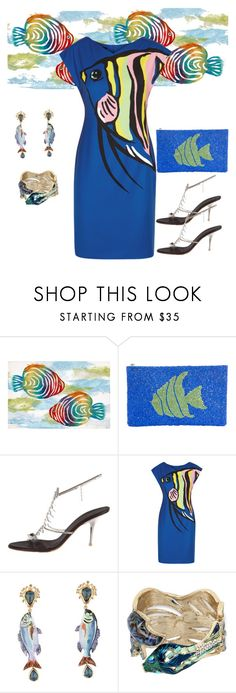 """""""A Little Fishy🐡🐠🐟"""" by parnett ❤ liked on Polyvore featuring TLC&you, Giuseppe Zanotti, Boutique Moschino, Dolce&Gabbana and Betsey Johnson"""