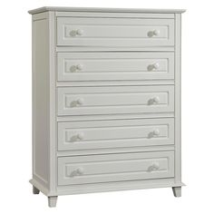 Stork Craft Destin 5 Drawer Dresser with Tufflink Assembly -