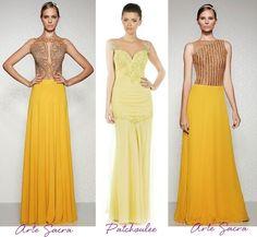 Vestidos de festa amarelo-verão 2014