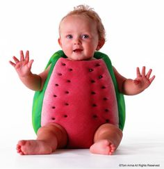 Baby fruit photo idea, watermelon