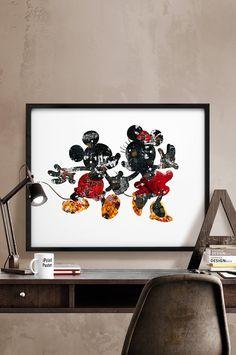 Disney Mickey & Minnie poster wall art kids decor by iPrintPoster