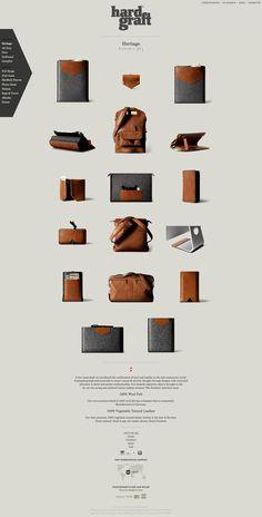 Unique Web Design, Hard Graft #WebDesign #Design (http://www.pinterest.com/aldenchong/)