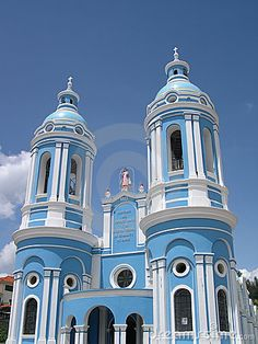 Blue Church In Cuenca, Ecuador Stock Image - Image of blue, faith: 4061135 South American Countries, Countries Of The World, Cuenca Ecuador, Blue Building, Equador, Galapagos Islands, Business Class, South America Travel, Architecture Old