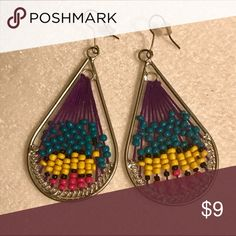 Colorful Beaded Earrings Like new condition. Jewelry Earrings