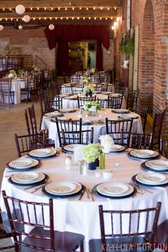 Navy Green And White Wedding Table Decorations Via Va Winery Columbus Ohio