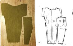 Rekonstuktion of Viking kofte from textile remnants found in Hedeby harbor. Coloured with Reseda, collar after the Bayeux Tapestry. Danish Vikings, Viking Tunic, Bayeux Tapestry, Viking Clothing, Reusable Tote Bags, Textiles, Tom, Crafts, Color