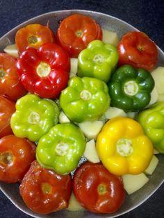 H μαγειρικη της Φωτεινής: Γεμιστά Stuffed Peppers, Vegetables, Food, Stuffed Pepper, Essen, Vegetable Recipes, Meals, Yemek, Stuffed Sweet Peppers