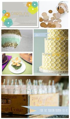 Modern Baby Shower Inspiration Board by classicology