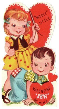 """""""Needle"""" Little - Vintage Valentine <3"""