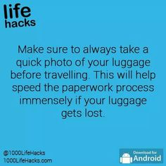 1000 life hacks is here to help you with the simple problems in life. Posting Life hacks daily to help you get through life slightly easier than the rest! Simple Life Hacks, Useful Life Hacks, Life Hacks List, Packing Tips, Travel Packing, Travel Hacks, Travel Ideas, Travel Luggage, Suitcase Packing