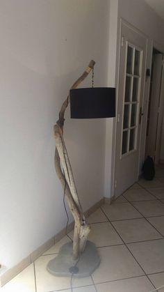Lampadaire en bois flotté, décoratif et moderne fait sur mesure : Luminaires par les-bricoleurs-du-dimanche