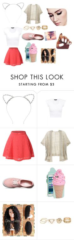 """""""Mahogany *LOX*"""" by rianne-parry ❤ liked on Polyvore featuring Lipsy, LE3NO, Victoria's Secret, Vans and Kate Spade"""