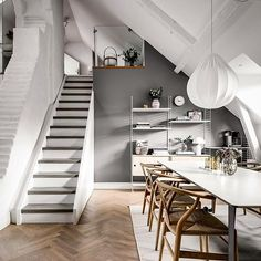 If you're going to go monochrome, this is definitely the way to do it. Those painted stairs are fab! 📷 by @henriknero . . . . . #scandinaviandesign #scandinavianinterior #scandinavianinteriors #interiordesign #minimalistdesign #minimalism #minimaliststyle #minimalistinterior #swedishstyle #swedishinterior #swedishdesign  #Regram via @www.instagram.com/p/BvbeL9sFoSn/