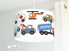 Lampenkappen - Auto, Lamp, Lampenkap, Stof, Lampen, Baby, - Een uniek product van Lieblings-Lampenschirme op DaWanda