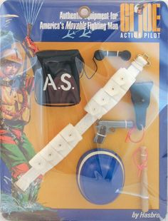 Released in Air Security is an uncommon set prized by collectors. It features a striped helmet like the MP and SP sets, along with a cool black stenciled AS field phone, cartridge. Gi Joe, Barbie Clothes, Barbie Outfits, 1960s Toys, Modern Toys, Happy 50th Birthday, Fabric Backdrop, Old Toys, Vintage Ads