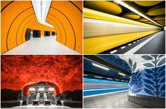 Estas fotografías capturan la colorida arquitectura de las estaciones de metro en Europa