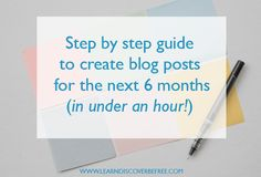 Step by step guide to create blog post ideas for the next 6 months Creating A Blog, Social Media Content, The Next, Step Guide, Business Tips, 6 Months, Blogging, Writing, Feelings