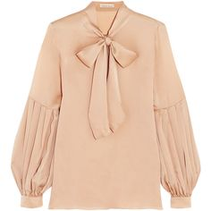 Spring-Summer romantic blouses to wear with your high-waist jeans (The Blonde Salad) Bow Blouse, Collar Blouse, Thing 1, Red Blouses, Autumn Blouses, Beautiful Blouses, Silk Satin, Satin Top, Hijab Fashion