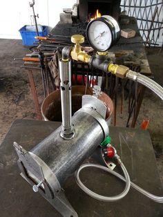 Single Burner Blacksmith Knife Maker Bladesmith Gas Forge Skull Forge | eBay