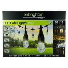 Enbrighten 36' Strand LED Acrylic Café Lights (18 bulbs) - Sam's Club $49.98