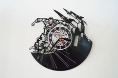 Iron Man Design vinyl record wall clock