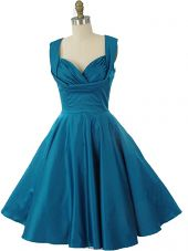 Vintage Inspired Teal Blue Swing Dress-50s Style Party Dresses