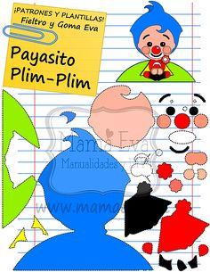 Plantillas Personajes Actuales El Payaso Plim-Plim Happy Birthday Sam, Minnie Birthday, Circus Birthday, 3rd Birthday, Clown Party, Circus Party, Imprimibles Toy Story Gratis, Second Birthday Ideas, Barbie Party