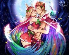 Rakan and Xayah by Szilina on DeviantArt - League of Legends League Of Legends Characters, Lol League Of Legends, Girls Characters, Rakan League Of Legends, Liga Legend, R Lol, Fanart, Anime Kiss, Star Art
