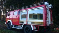 Magirus -Deutz Feuerwehr mit H-Zulassung (350,- Steuer+Versicherung). Koffer zum schlafen...,Andere Magirus-Deutz LF8 in Baden-Württemberg - Leutkirch im Allgäu