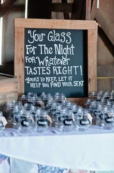 I love little creative notes explaining and giving direction to add taste to the decorations/party favors