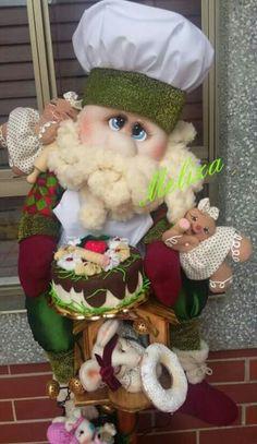 Santa cocinero Alice, Teddy Bear, Diy Crafts, Dolls, Children, Party, Christmas, Animals, Ideas
