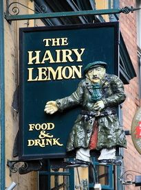 "THE HAIRY LEMON FOOD & DRINK in Ireland (where PJ Delahunty first muttered the immortal phrase ""tis a thing of beauty whilst looking at a pint of Guinness"")."