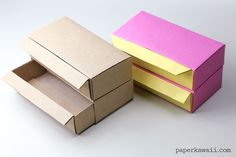Long Origami Pull Out Drawers Instructions ♥ - Paper Kawaii