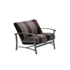 Tropitone Ovation Lounge Chair with Cushion Finish: Graphite, Fabric: Canvas Heather Beige
