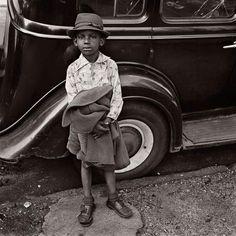 Boy and Car, New York City, 1949