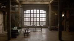 Perfect entrance to art studio area under Mezzanine (the hole in brick wall in Derek's Loft on Teen Wolf)