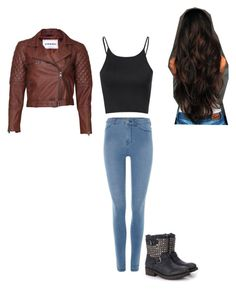 """""""Untitled #413"""" by ponyboy1617 ❤ liked on Polyvore featuring VIPARO, Glamorous and Dr. Denim"""