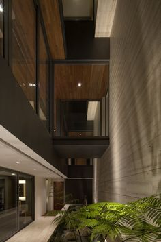 contemporist - modern architecture - wallflower architecture design - travertine dream house - serangoon - singapore - interior view - circulation space