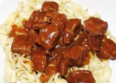 recipes with beef round chunks. I have tried this recipe using ingredients that are simple and easy to find. it's very tasty and easy to make Beef Chunks Recipes Easy, Recipes With Beef Round, Crockpot Recipes, Chicken Recipes, Cooking Recipes, Chicken Meals, Easy Recipes, Cube Recipe, Buttered Noodles