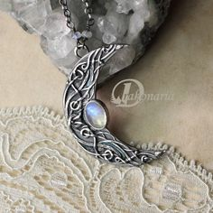 beautiful moon necklace <3