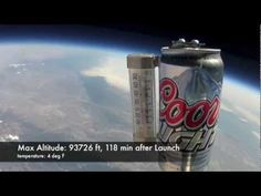 "First Coors Light in Space! Testing the ""Super Cold"" label at -75*F and 93k feet...does it work?"