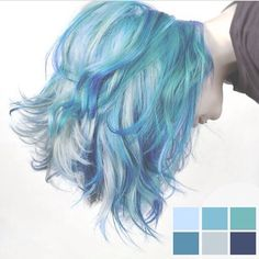 Got this from Instagram! Ultimate hair goal!!! #haircolor #manicpanic #blue