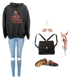 """""""Untitled #556"""" by fashion-hideaway ❤ liked on Polyvore featuring Gucci, Chanel, Ray-Ban, Topshop and Pamela Love"""